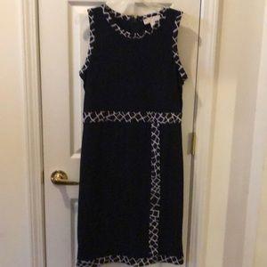 Michael Kors jersey print sheath dress size large
